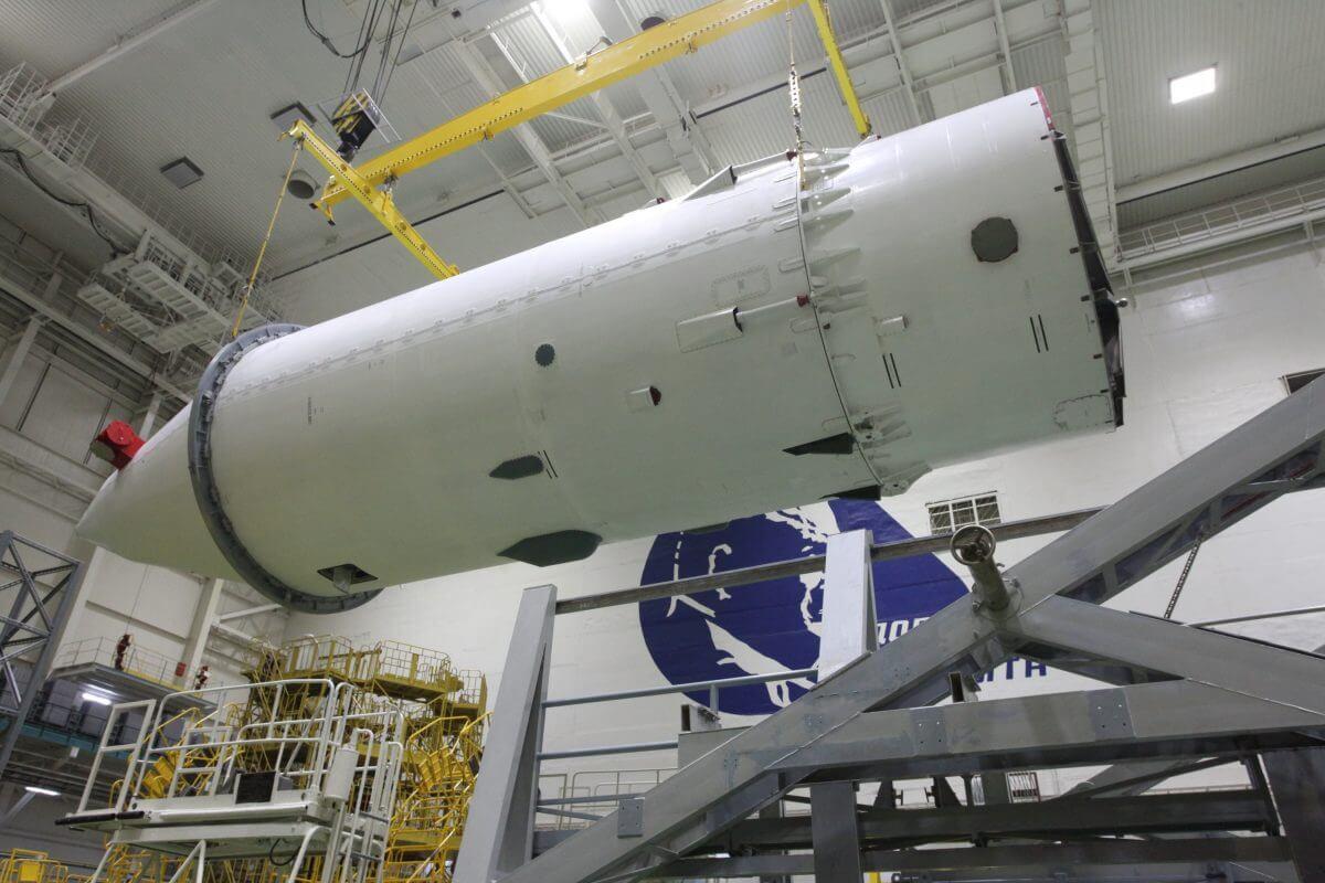 フェアリングに格納された多目的実験モジュール「ナウカ」(Credit: Yuzhny Space Center/Roscosmos)