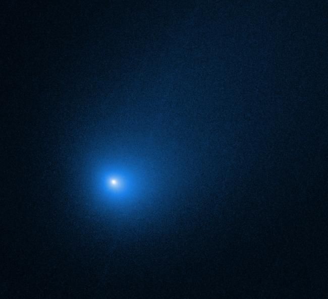 2019年に発見されたボリソフ彗星。人類史上初めて確認された恒星間彗星になります。(Image Credit:NASA, ESA and D. Jewitt (UCLA))