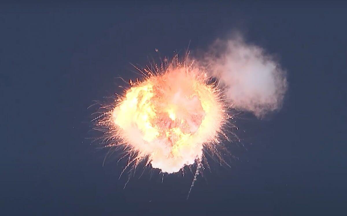 打ち上げから約2分後、機体に異常が生じて指令破壊された(Credit: Firefly Youtube)