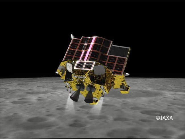 小型月着陸実証機「SLIM」のイメージ(Credit: JAXA)